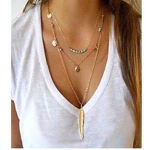 🆕 🍁Gold & Teal Layered Necklace 🍁